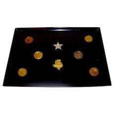 Vintage Historic State Fair Of Texas Medallion Service Tray