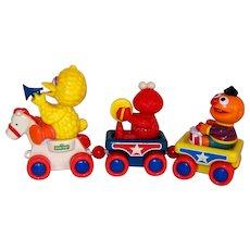 Vintage 1990 Illco Sesame Street Big Bird Musical Toy Train