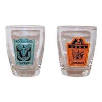 Vintage Nesbitt Deane English Pub Shot Glasses