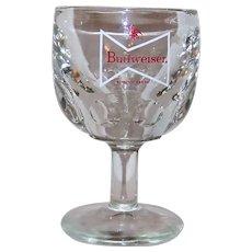 Vintage Budweiser Stemmed Schooner Glassware