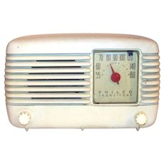 Vintage 1948 Philco Transitone Model 48-200I Tabletop Radio