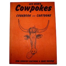 Vintage 1969 First Printing Western Cartoonist Ace Reid's Cartoon And Recipe Soft Cover Book
