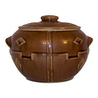 Vintage 1940's Western Monmouth Pottery Cookie Jar
