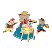Vintage 1959 Dolly Toy Company Die Cut Nursery Rhyme   Children's theme Wall Art