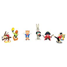 Vintage 1988 Applause Warner Brothers Looney Tunes Cartoon Character Set