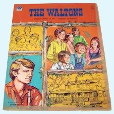 Vintage 1975 Whitman Publishing Walton Family Paper Doll Folio Set