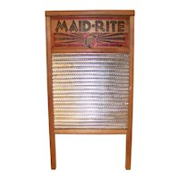 Vintage Maid Rite Wooden Washboard