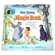 Vintage 1962 Walt Disney See, Hear And Read Book Featuring The Jungle Book