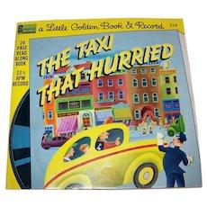 Vintage 1976 Disneyland A Little Golden Book & Record