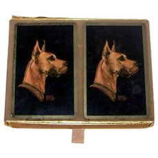 Vintage Gladys Emerson Cook Dog Artwork Playing Cards By The U S Playing Card Company