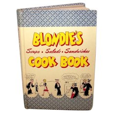 Vintage 1947 First Edition Blondie's Soups, Salads & Sandwiches Cookbook By King Features Syndication