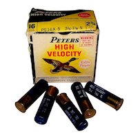 Vintage 1960's Peters High Velocity 16 Gauge Shotgun Shell Box