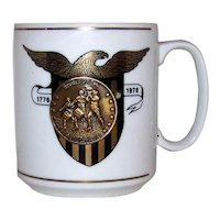 Vintage 1976 United States Bicentennial Medallion Coffee Cup