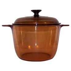 Vintage Corning Ware Amber Vision Ware Stew Pot