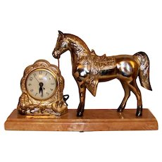 Vintage 1950's Sessions Clock Company Figural Western Horse & Electric Mantle Clock
