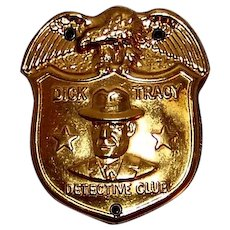 Vintage 1937 Dick Tracy Detective Badge