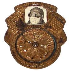 Vintage 1942 Captain Midnight Photomatic Secret Squadron Code-O-Graph Pinback Badge