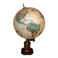 "Vintage 1953-54 Replogle 12"" World Classic Series World Globe"