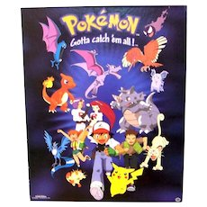 Vintage 1999 Official Pokemon Cardboard Store Advertising Display