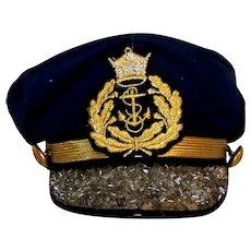 Vintage Hooray Henry Of Los Angeles Embellished Ladies Nautical Captain Hat
