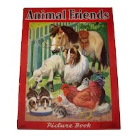 Vintage 1939 Children's Animal Friends Illustrated Picture Book