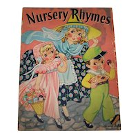 Vintage 1939 Children's Nursery Rhymes Illustrated Picture Book