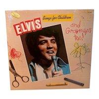 Vintage Sealed 1978 Elvis Sings For Children & Adults Too Music Album