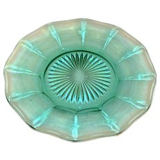 Vintage Fostoria Aqua Green Salad Plates