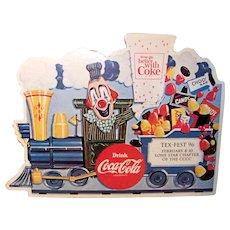 Vintage 1996 Tex-Fest Coca-Cola Collectors Club Convention Advertising Placard