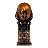 Vintage Nursery Rhyme Humpty Dumpty Copper Clad Cast Iron Still Bank