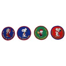 Vintage 1971 Charles Schultz Snoopy Linus Charlie Brown Cartoon Character Cloth Iron-On Patches