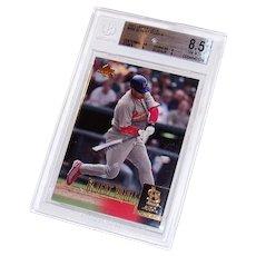 Vintage 2001 Upper Deck Albert Pujols Graded Rookie Baseball Card