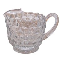 Vintage Fostoria American Clear Glass Pint Pitcher