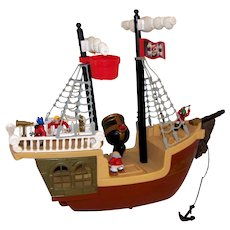 Vintage 1994 Fisher Price Pirate Ship Toy