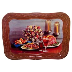 Vintage 1962 Coca-Cola Thanksgiving Advertising And Promotional Trays