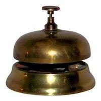 Vintage Hotel Front Desk Brass Service Bell