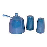 Vintage Pretty Blue Lustreware Children's China Service