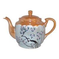 Vintage Post World War II Made In Japan Lustreware Covered Teapot