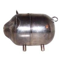 Vintage Silver Plated Two-Piece Piggy Bank