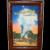 Vintage Yellowstone National Park Old Faithful Geyser Framed Souvenir Scenic Card