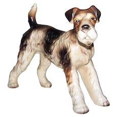 Vintage 1950's Made In Japan Large Porcelain   Airedale Terrier Dog Figurine
