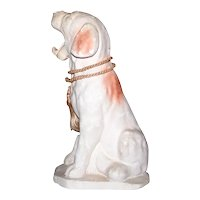 Vintage 1940's Carnival Chalkware Cocker Spaniel Dog Figurine
