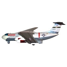Vintage Rare 1960's New Old Stock Nomura Toy Company of Japan Battery Operated Lockheed C-5A Galaxy Transport Plane