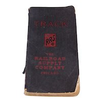 Antique 1919 The Railroad Supply Company Of Chicago Railroad Track Book