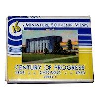 Vintage 1933 Century Of Progress World's Fair Miniature Linen Souvenir Picture Cards