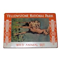 Vintage Haynes Yellowstone National Park Souvenir Miniature Picture Cards
