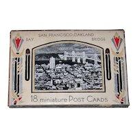 Vintage 1936 J. C. Bardell Miniature Picture Postcards Of San Francisco Bay & Oakland Bridge