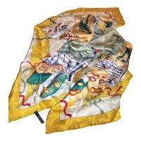 Vintage Masquerade A Venice Italian Silk Scarf