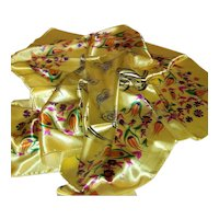 Vintage Piarrossi Italian Silk Scarf
