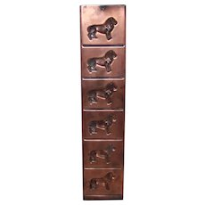 Vintage Copper LIon Motif  Chocolate Candy Relief Mold